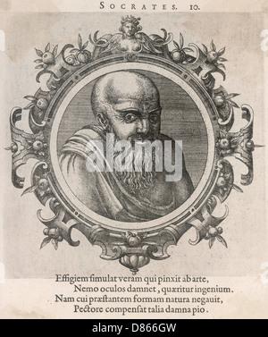 Der griechische Philosoph Sokrates von Athen - Stockfoto