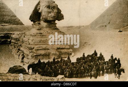 Sphinx und Pyramiden Gizeh Ägypten - Stockfoto