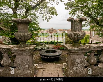Die bezaubernden Gärten der Villa Lante in Bagnaia, Umbrien, Italien - Stockfoto