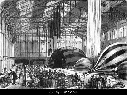 Belagerung von Paris Ballon - Stockfoto