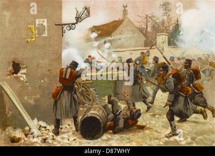 Schlacht von Champigny 1870 - Stockfoto