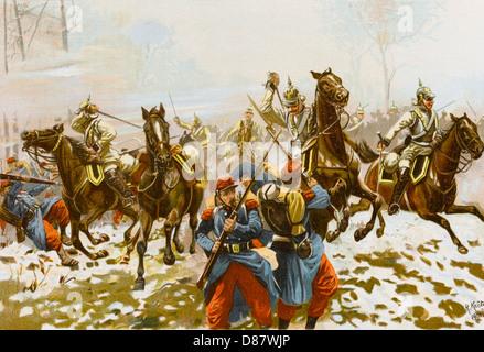 Schlacht von Orleans 1870 - Stockfoto