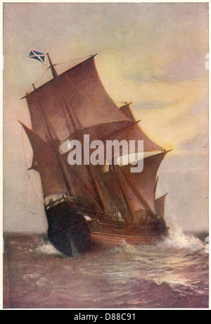 Mayflower unter vollen Segeln - Stockfoto