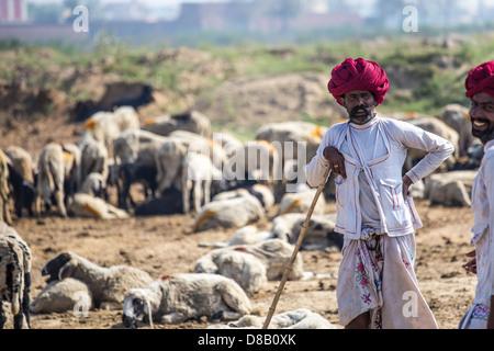 Rajput Hirte, Rajasthan, Indien - Stockfoto