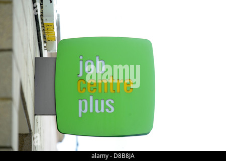 Job Centre Plus Zeichen. - Stockfoto