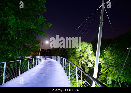 Freiheitsbrücke in Greenville, South Carolina, USA - Stockfoto