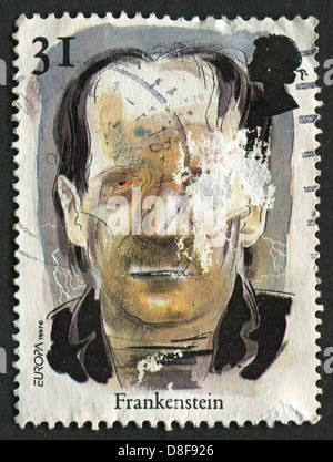 UK - CIRCA 1997: Eine Briefmarke gedruckt in UK zeigt Bild von der Frankenstein. Geschichten und Legenden. Horrorgeschichten, - Stockfoto