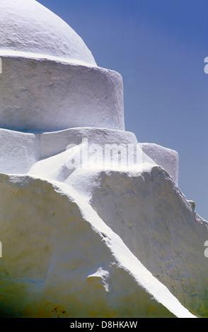 Kirche der Panagia Paraportiani, Mykonos (Chora), Kykladen, Griechenland, Europa - Stockfoto