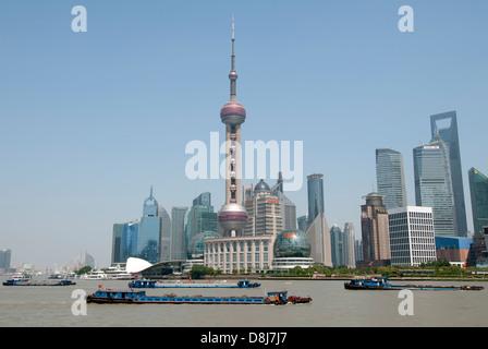 Die neue Skyline Shanghai Pudong, Shanghai, China. - Stockfoto