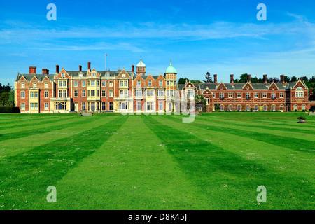 Sandringham House, Norfolk, Landsitz des HM die Königin, 19. Jahrhundert britische viktorianische Architektur, England UK