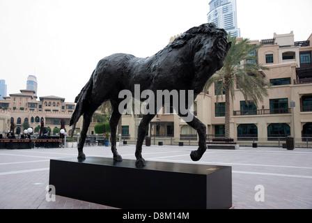 Leben Größe andalusischen (Pferd) 1 Vincent da Silva Downtown Dubai - Stockfoto