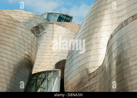 Guggenheim Museum, Bilbao, Spanien, Architekt: Frank Gehry - Stockfoto
