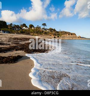 Sonnentag am Swanpool Strand Falmouth Cornwall England UK - Stockfoto