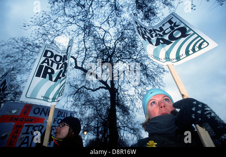 Der Krieg im Irak Demo, London, UK. 15. Februar 2003. - Stockfoto