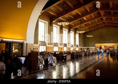 Interieur Saal der Union Station in der Innenstadt von Los Angeles südliche Kalifornien USA - Stockfoto