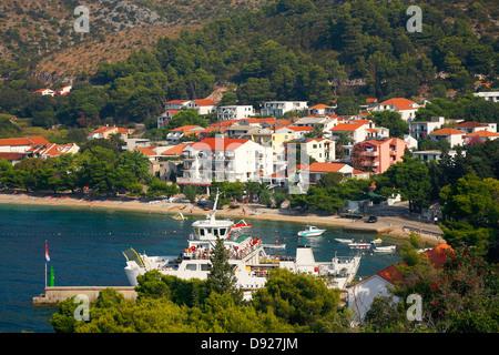 Drvenik Stadt in Kroatien - Stockfoto
