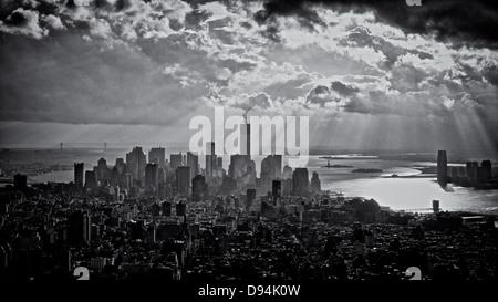 Blick auf Manhattan, New York. - Stockfoto