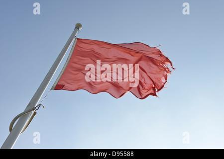 Rote Flagge - Stockfoto
