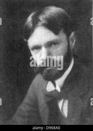 DH (David Herbert) Lawrence (1885-1930), englischer Schriftsteller und Dichter. - Stockfoto