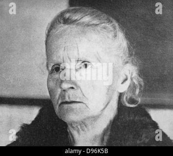 Marie Curie (1867-1934) Polen geborenen französischen Physiker im Jahr 1931 - Stockfoto
