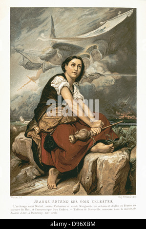 Jeanne d'Arc (c 1412-31) St. Jeanne d'Arc, die Jungfrau von Orleans, französischer Patriot und Märtyrers: Joan Hüten - Stockfoto