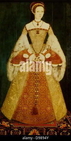 Lady Jane Grey (1537-1554) Die neun Tage Königin. Eine Enkelin von Heinrich VII., nach dem Tod von ihrer evangelischen - Stockfoto
