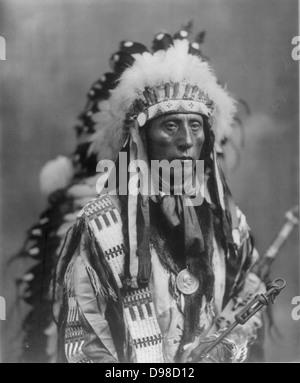 Jack Red Cloud nordamerikanischen Sioux Indianer. - Stockfoto