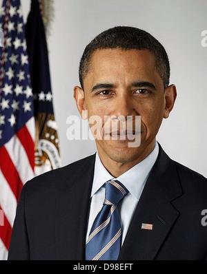 Offizielles Porträt von US-Präsident Barack Obama im Jahr 2010 - Stockfoto