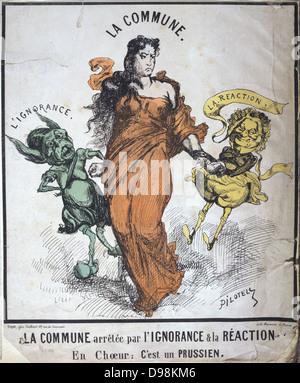 Pariser Kommune 26 März-28 Mai 1871. Die Gemeinde festgenommen durch Ignoranz und Reaktion (Jules Favre und Louis - Stockfoto