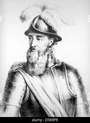 Francisco Pizarro y González, 1. Marqués de Los Atabillos (c. 1471 oder 1476 – 26 Juni 1541) war ein spanischer - Stockfoto