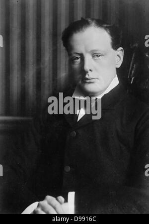 Sir Winston Leonard Spencer-Churchill (1874 - 24 1965) Britischer Staatsmann. Er diente als Premierminister 1940 - Stockfoto