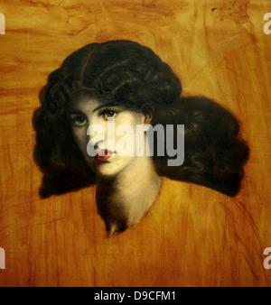 Dante Gabriel Rossetti (1828-1882) La donna della Finestra 1881 Öl auf Leinwand. Das Modell wurde Jane Morris und - Stockfoto