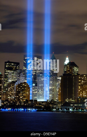 Die Tribute in Light Memorial. - Stockfoto