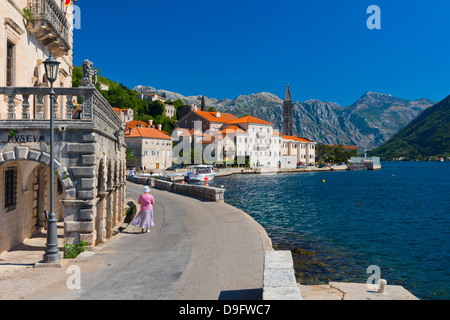 Bucht von Kotor, Perast UNESCO World Heritage Site, Montenegro - Stockfoto