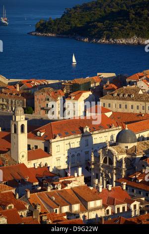 Blick über Stadt, Dubrovnik, UNESCO-Weltkulturerbe, Kroatien - Stockfoto