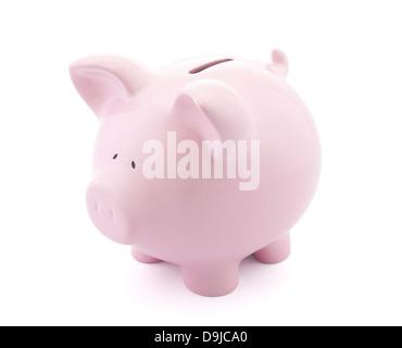 Rosa Sparschwein mit Beschneidungspfad - Stockfoto