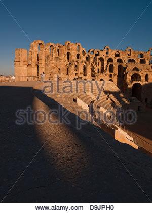 Das antike Amphitheater in El Jem, Tunesien - Stockfoto
