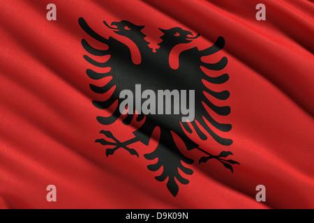 Flagge von Albanien - Stockfoto