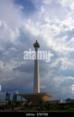 Nationaldenkmal Turm, Jakarta, Stadt, Indonesien, Asien, Monas Square - Stockfoto