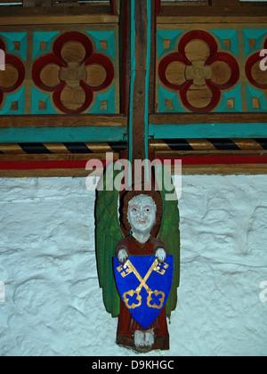 Die bunten restauriert Konsolen in Halle Vikare, Rock of Cashel, County Tipperary, Irland - Stockfoto