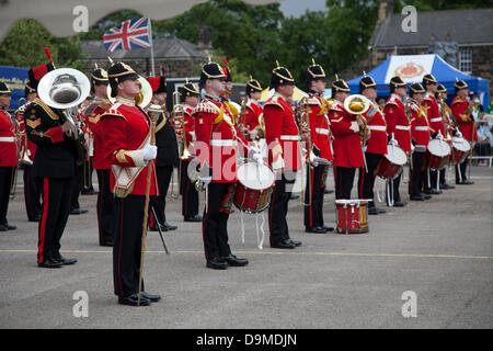 Preston UK, 22. Juni 2013. Die Band The King Division mit Sitz in Weeton Kaserne auf der Preston militärischen Show - Stockfoto