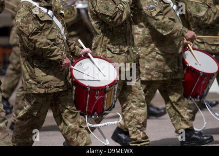 Preston, UK, 22. Juni 2013. Das Preston militärischen Zeigen an Fulwood Kaserne, Preston, Lancashire. Soldaten und - Stockfoto