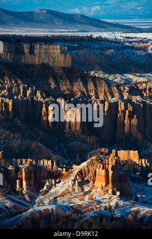 letztes Licht auf die Hoodoos Bryce Canyon, Utah, USA - Stockfoto