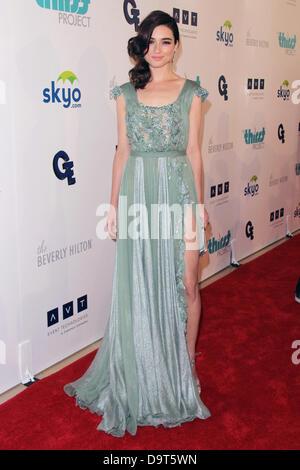 Los Angeles, Kalifornien, USA 25. Juni 2013. Crystal Reed besucht 4. Jahrestagung Durst Projekt Gala am 25. Juni - Stockfoto