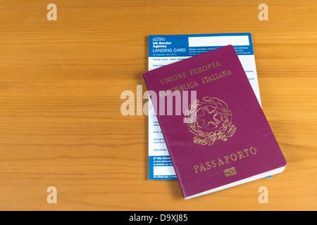 Italienischer Ausweis Stockfotografie Alamy