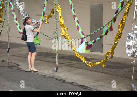 Wildschweine Kopf Pflanze offenen Kunstatelier in Bushwick, Brooklyn - Stockfoto