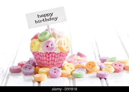 Geburtstag Cupcake - Stockfoto