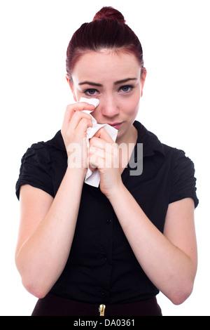Roten Haaren Geschäftsfrau Weinen - Stockfoto