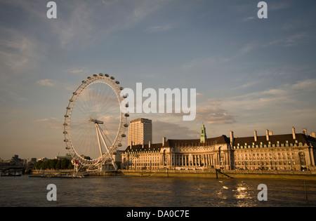 Sonnenuntergang am alten Rathaus, London. - Stockfoto