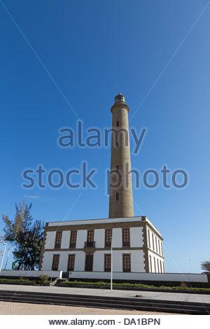 Spanien, Gran Canaria, Blick auf Leuchtturm El Faro - Stockfoto